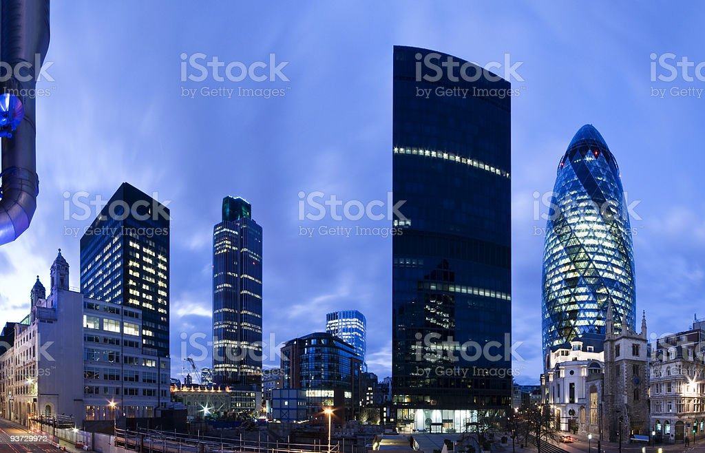 London financial district at twilight. royalty-free stock photo