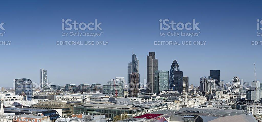 London financial district panorama stock photo