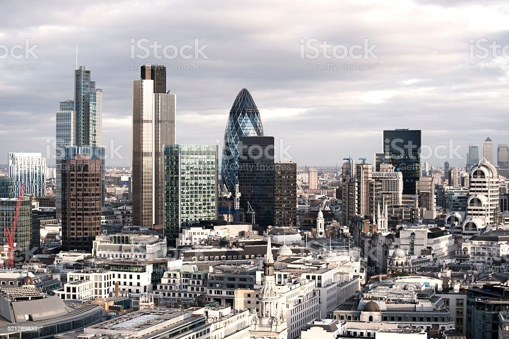 London financial district stock photo