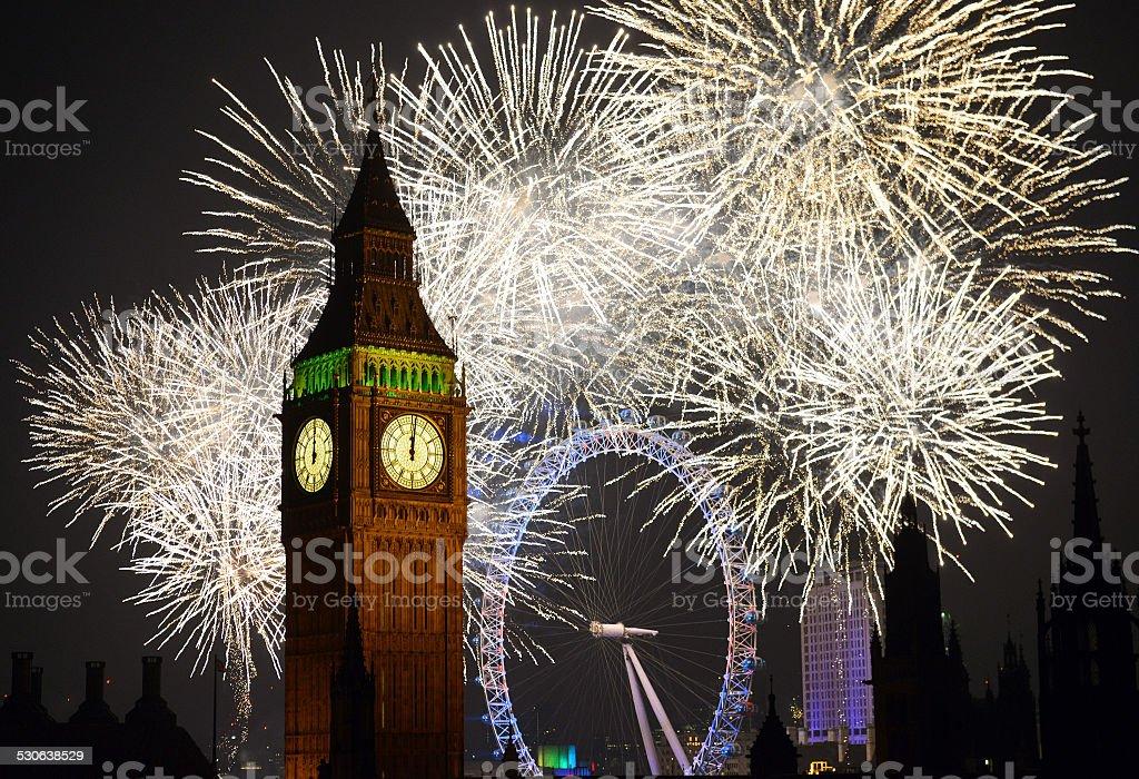 London Fireworks stock photo