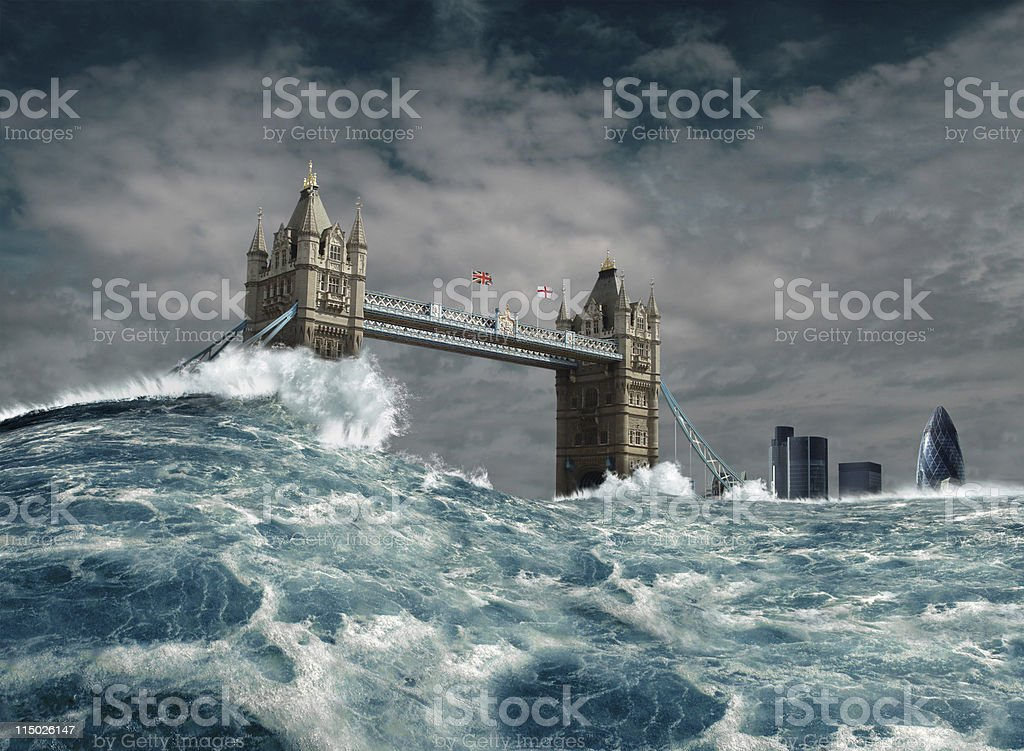 London Flood Disaster stock photo