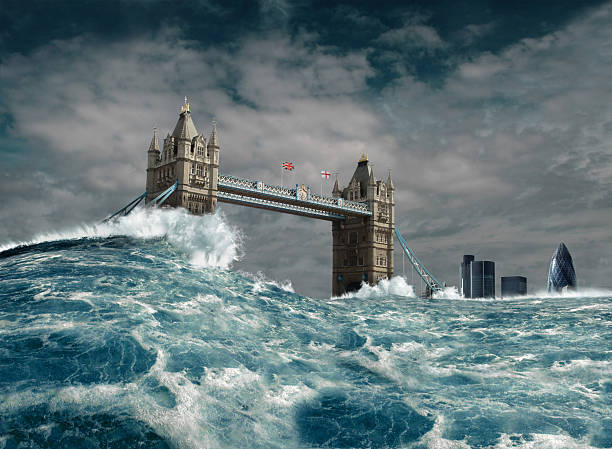 london flood disaster - apocalypse stock photos and pictures