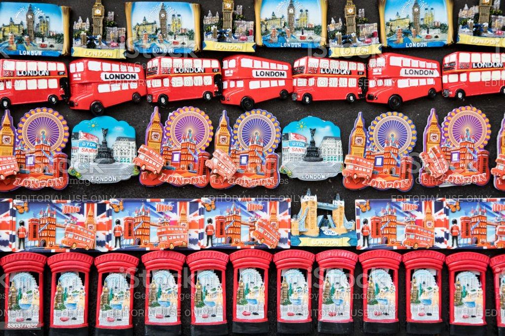 London fridge magnets stock photo