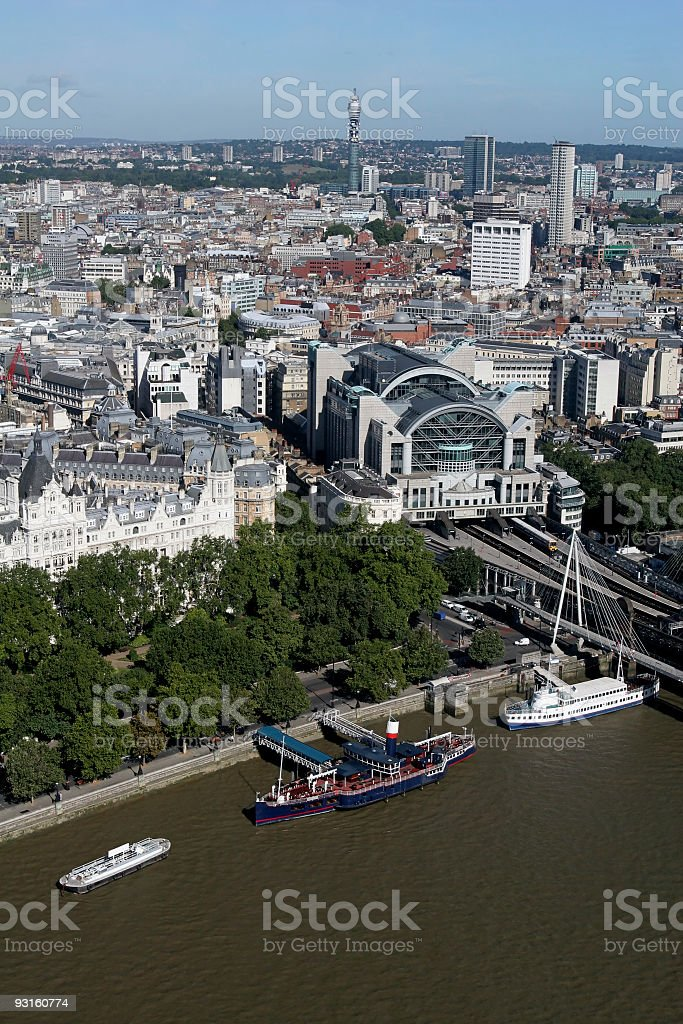 London from Above Charing Cross stock photo