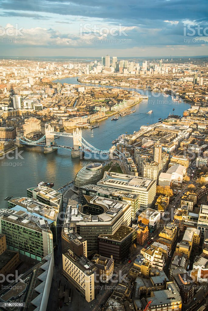 London from above stock photo