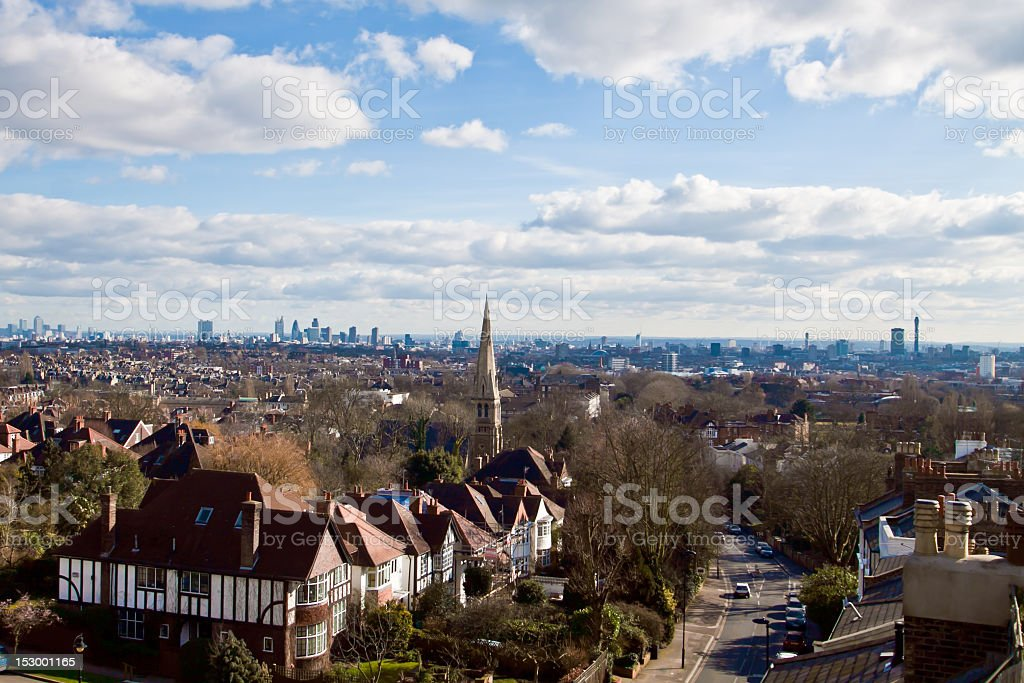 London from highgate stock photo