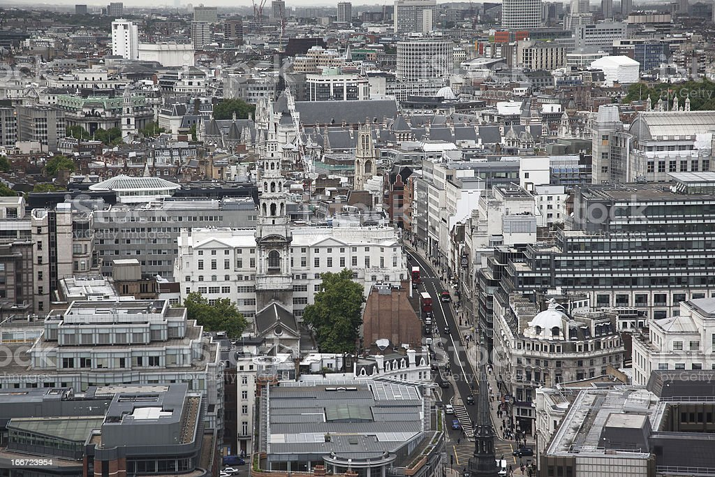 London from St Paul's Cathedral, UK royalty-free stock photo