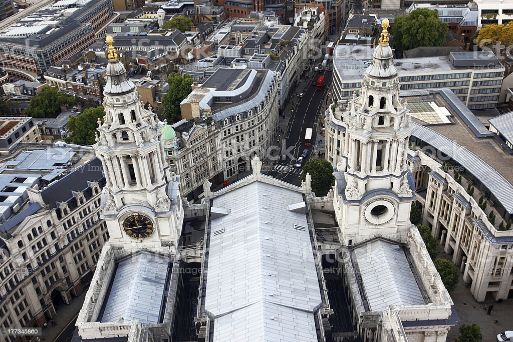 London from St Paul's Cathedral, UK. royalty-free stock photo