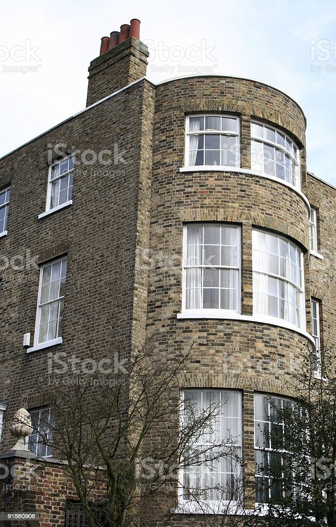 London Georgian Bow Fronted House royalty-free stock photo