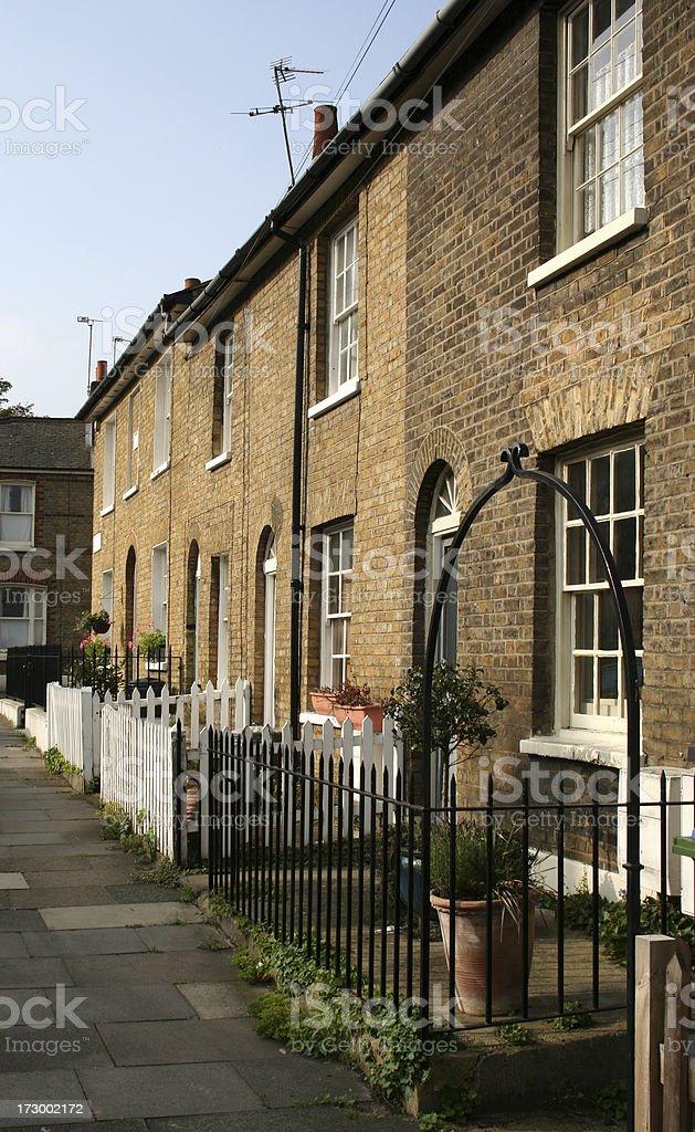 London Georgian terraced houses royalty-free stock photo