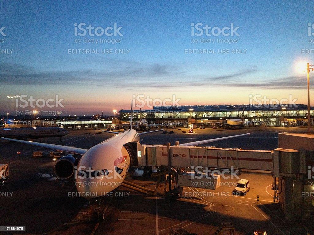 London Heathrow terminal 5 stock photo