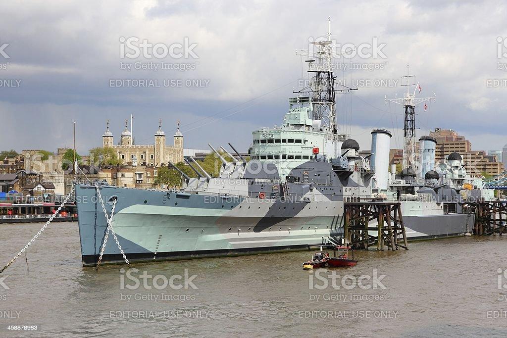 London - HMS Belfast royalty-free stock photo