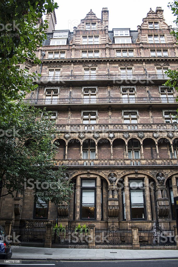 London hotel stock photo