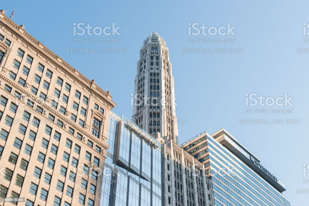 London House Chicago Hotel Downtown Loop Architecture Midwest USA stock photo