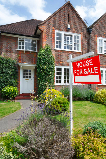 London house for sale stock photo