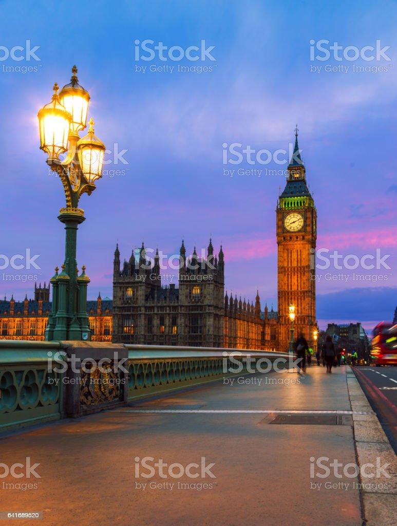 London - House of Parliament Night stock photo
