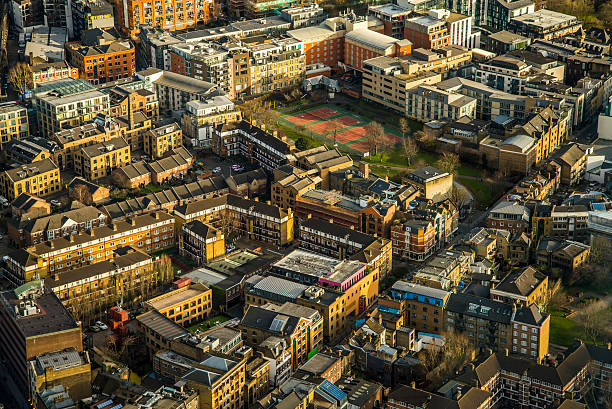 London houses from above stock photo