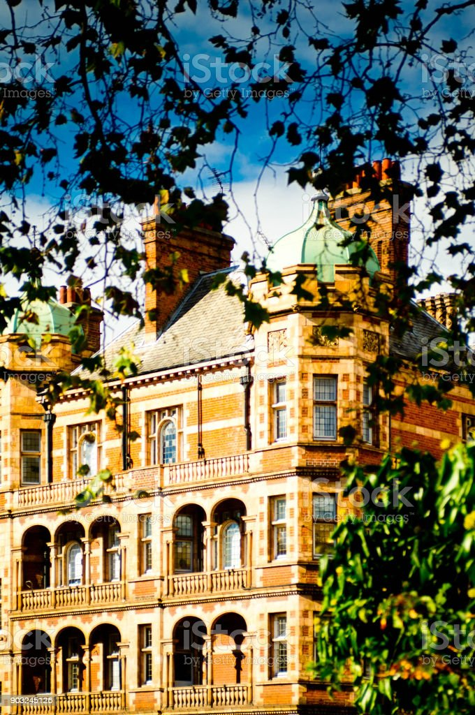 London houses stock photo
