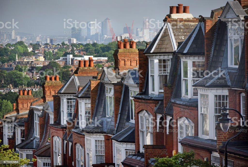 London Houses stock photo