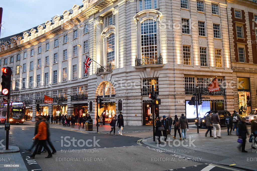 London in the evening, Regent Street stock photo