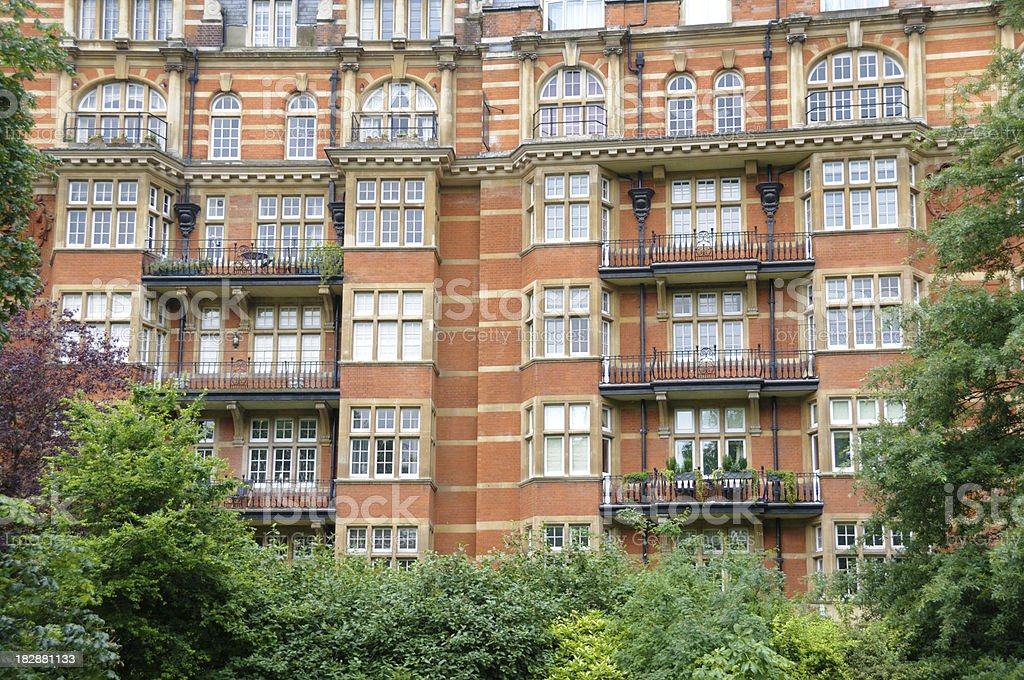 London Knightsbridge Apartments stock photo