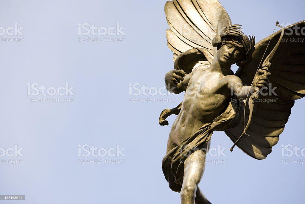 London landmark: Statue of Eros, Piccadilly Circus stock photo
