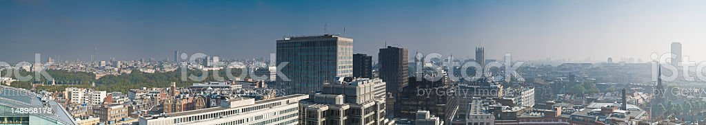 London landmarks rooftop panorama royalty-free stock photo