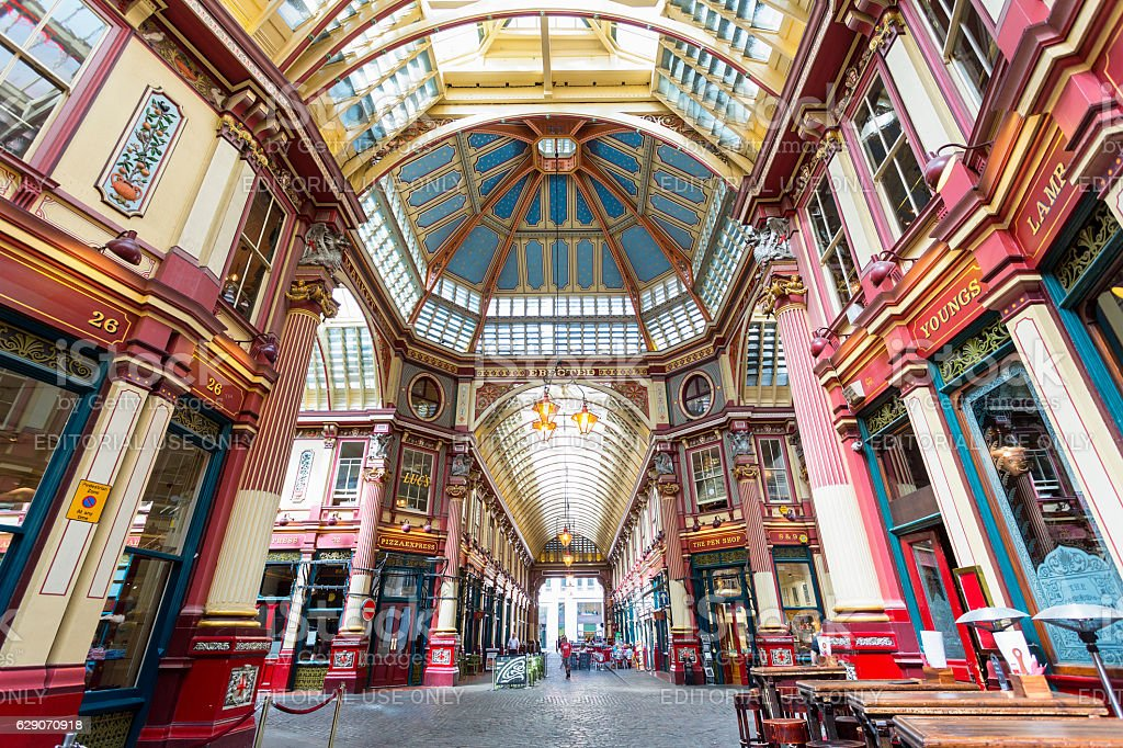 London, Leadenhall Market stock photo