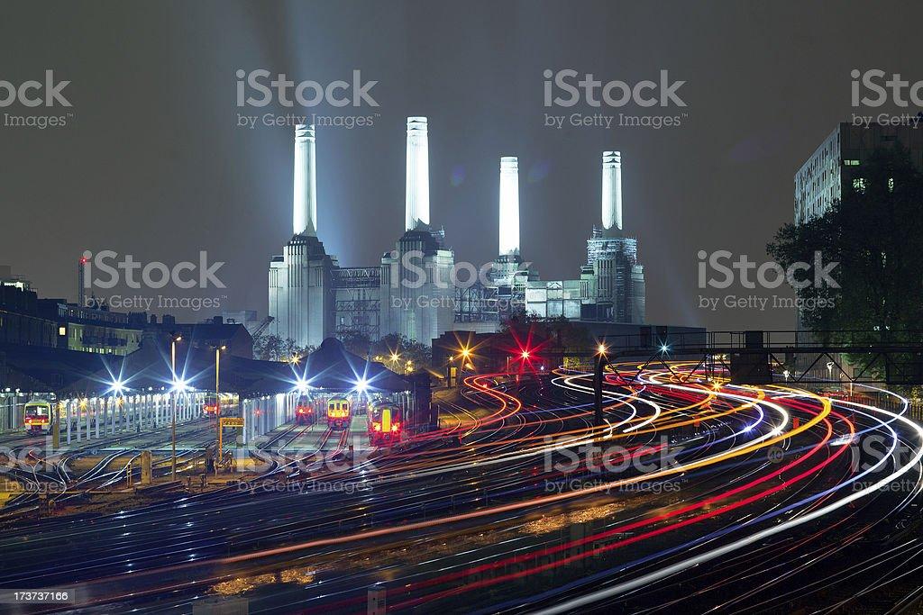London Lights -Battersea stock photo