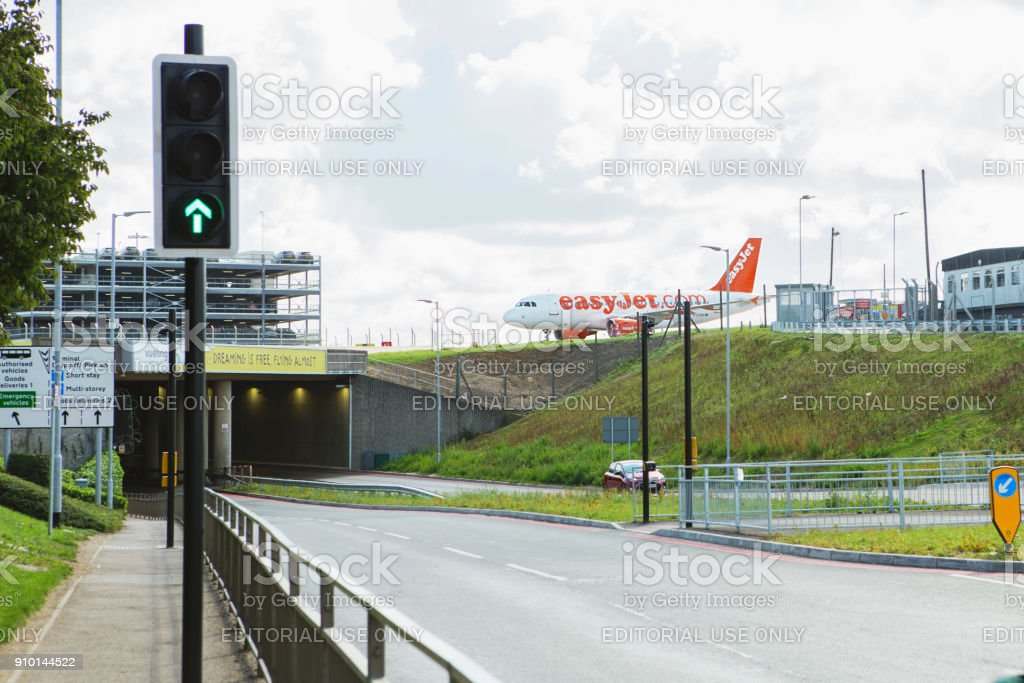 London Luton Airport. stock photo