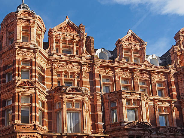 London, Mayfair ornate facade of apartment building mayfair stock pictures, royalty-free photos & images