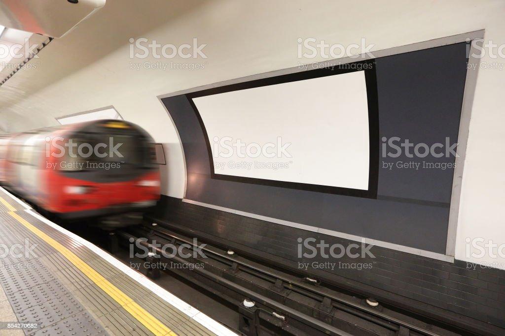 london metro railway platform stock photo