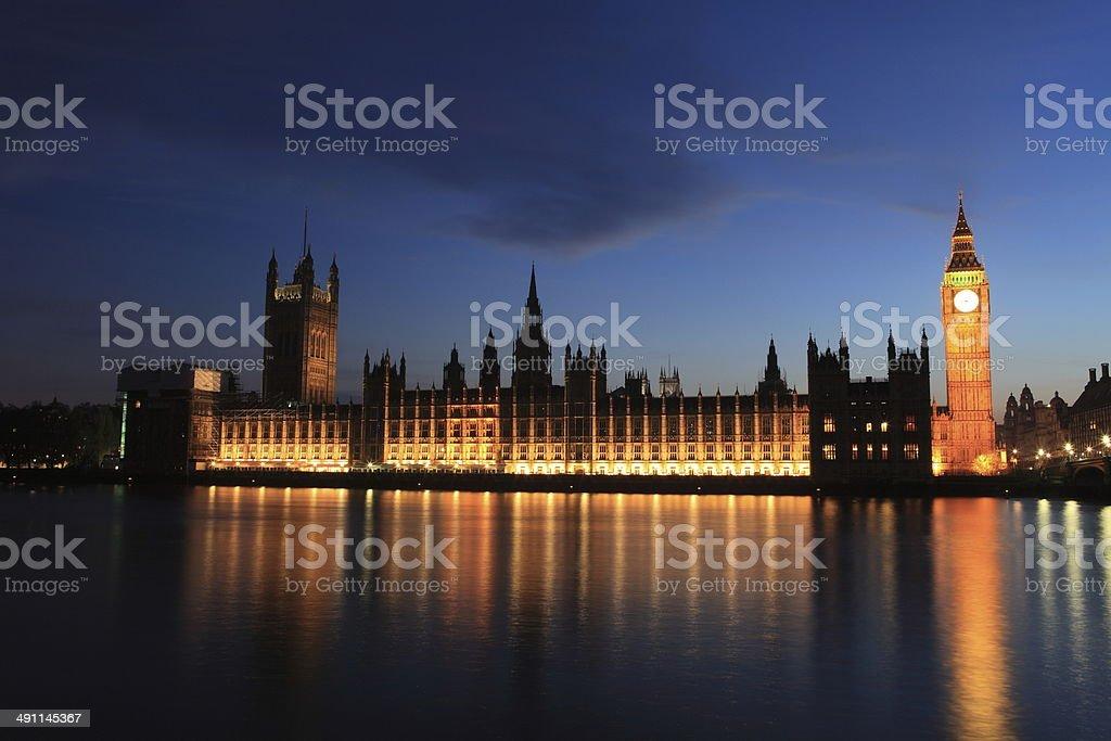 London mit Big Ben und Westminster stock photo