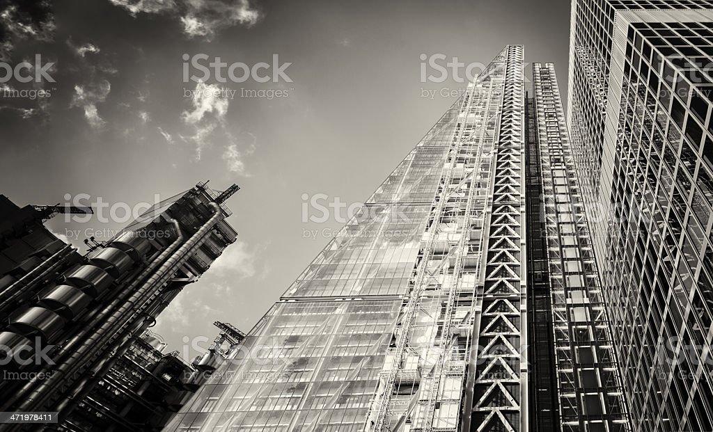 Photo de stock de london tours de bureau moderne en noir et blanc