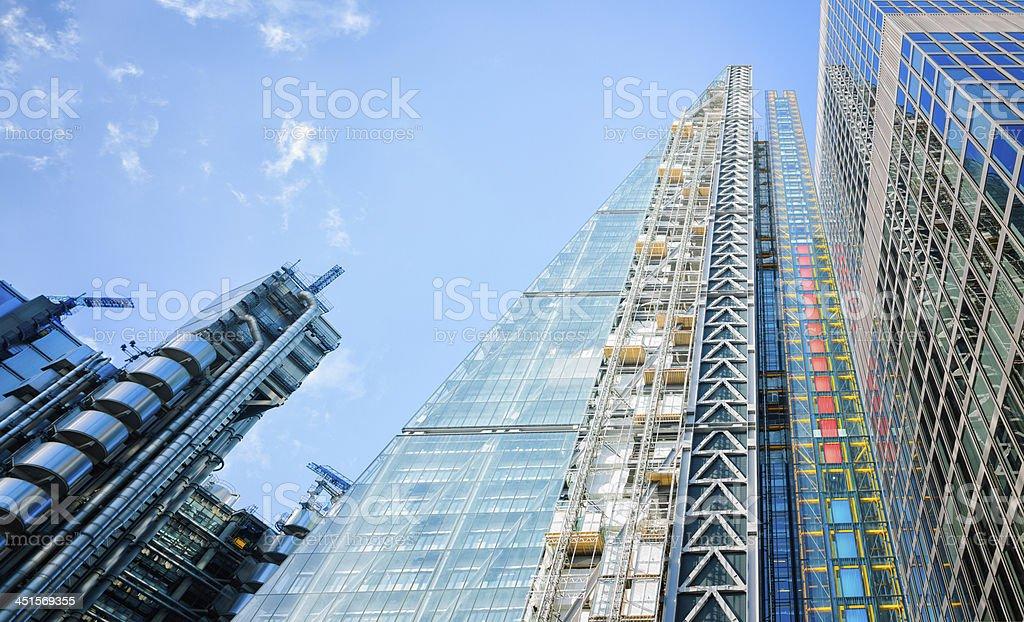 London modern office towers stock photo