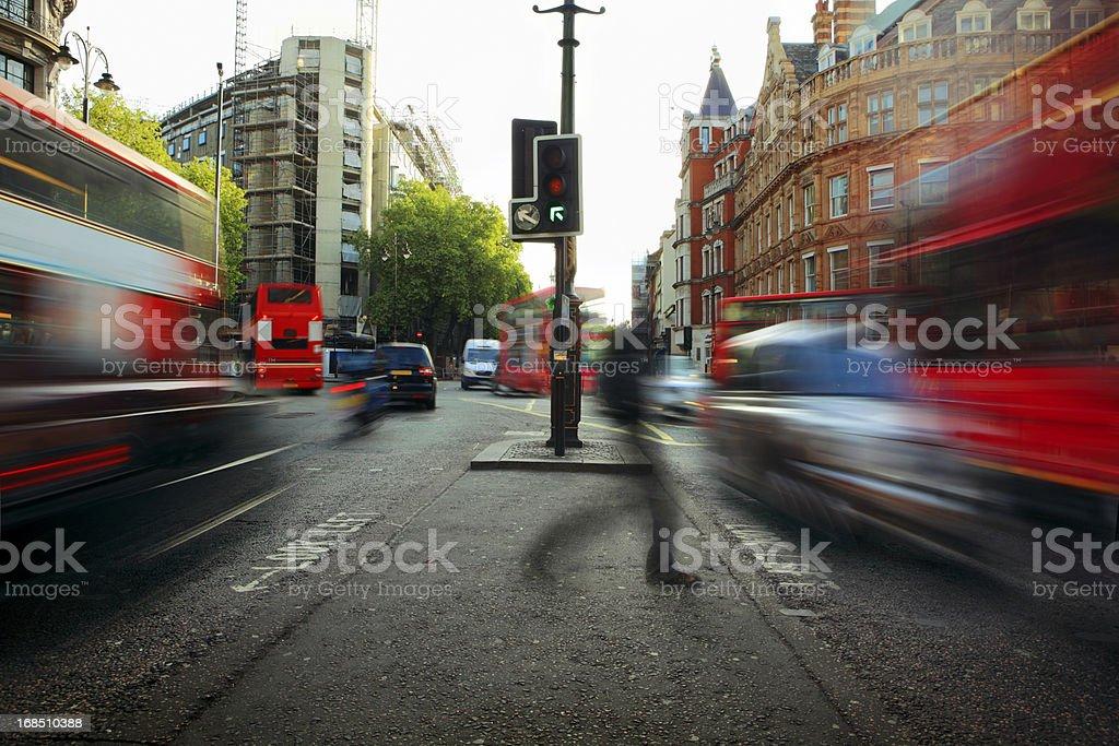 London Morning Traffic stock photo