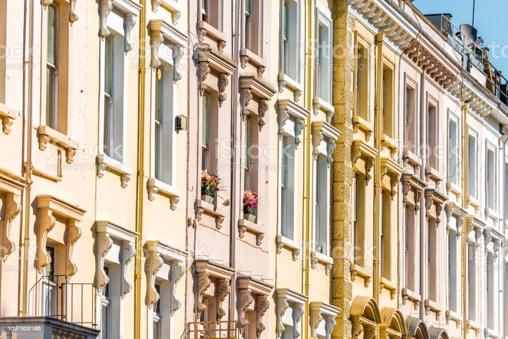 Distrito De Londres Barrio De Pimlico Con Balcones Terrazas
