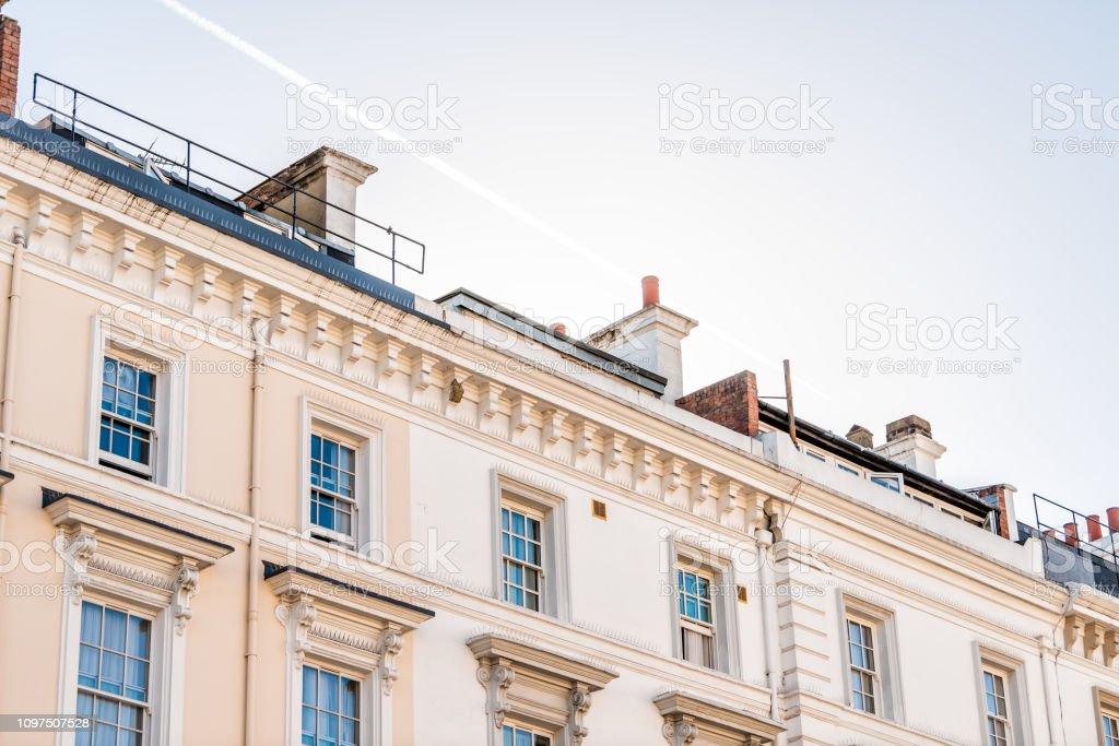 Londres Barrio Distrito De Pimlico Con Balcones Terrazas