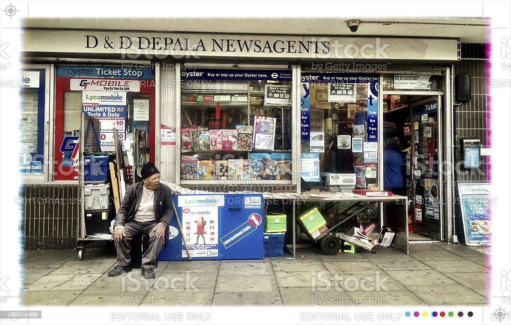 London newsagents stock photo