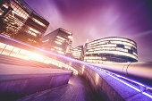 London Office buildings by night