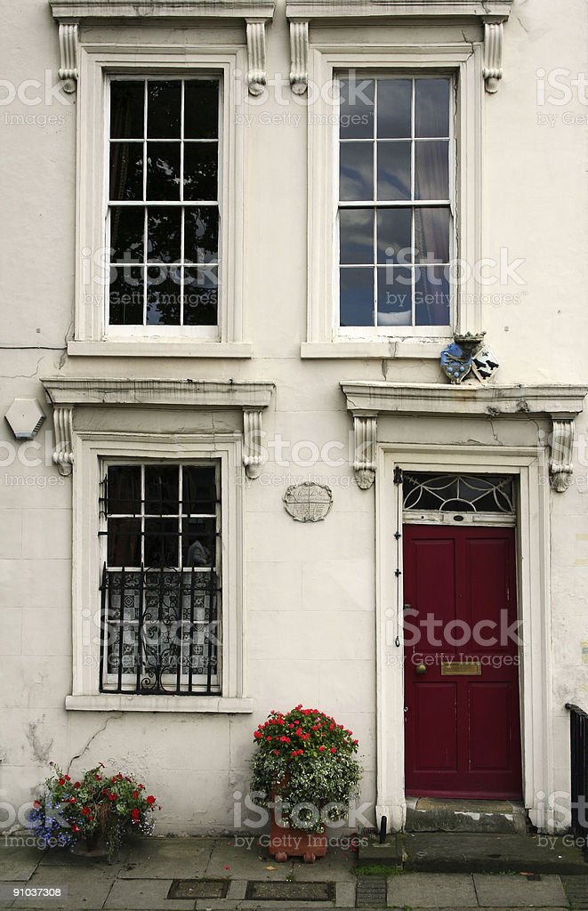 london old victorian townhouse facade royalty-free stock photo