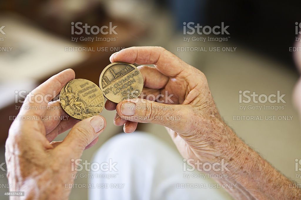 London Olympic Games Medal stock photo