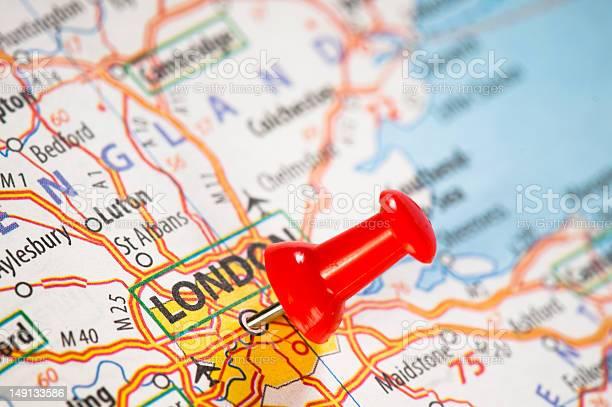 Cartina Stradale Londra.Londra Su Una Mappa Fotografie Stock E Altre Immagini Di Carta Geografica Istock