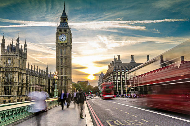 Londres en movimiento - foto de stock