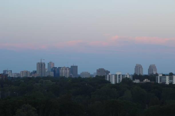 London Ontario Night Time Skyline stock photo