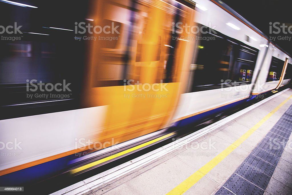 London Overground train stock photo