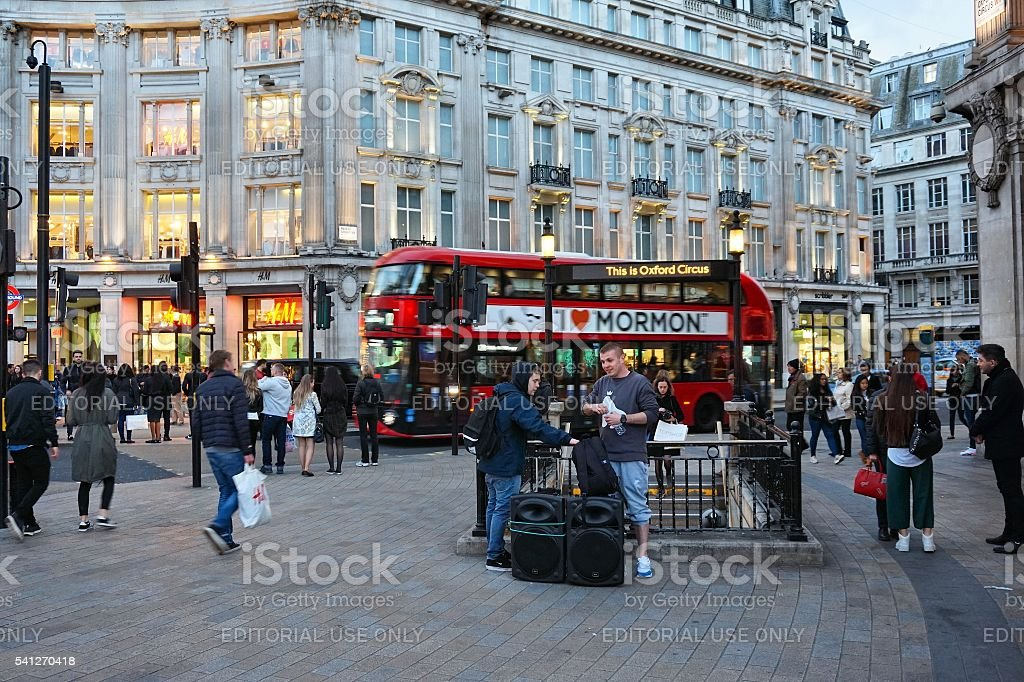 London Oxford Circus stock photo