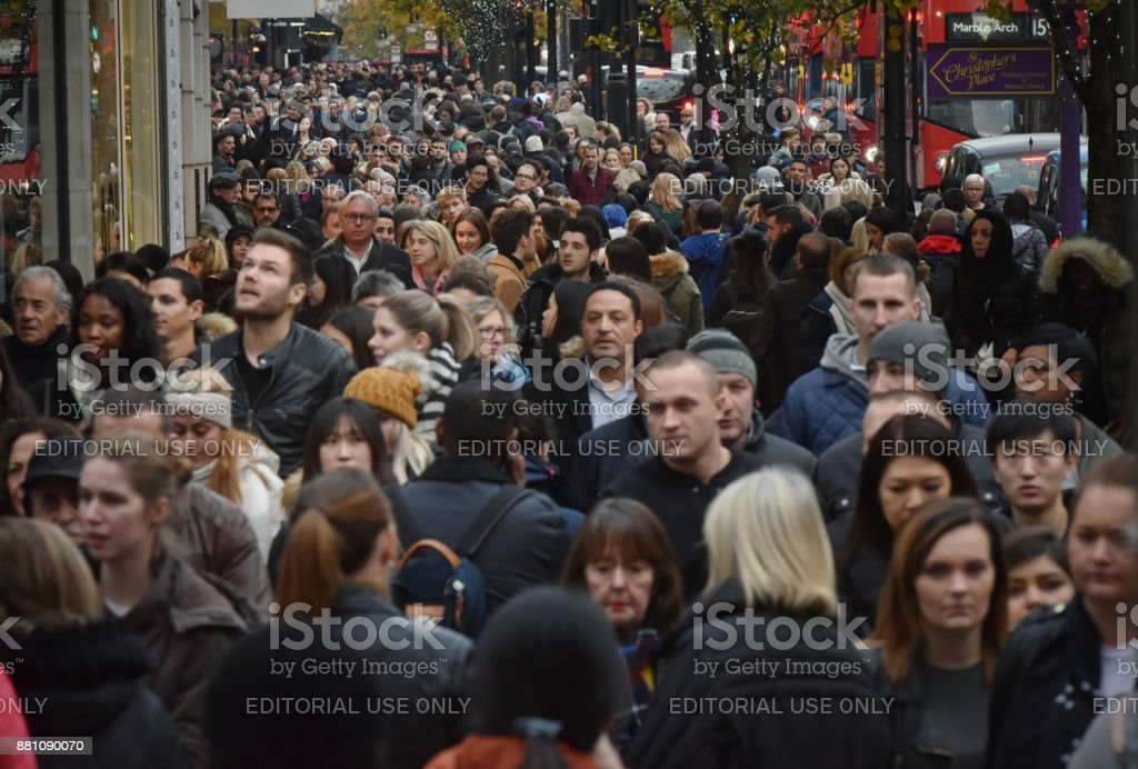 London Oxford Street stock photo
