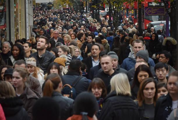 London Oxford Street stock photo