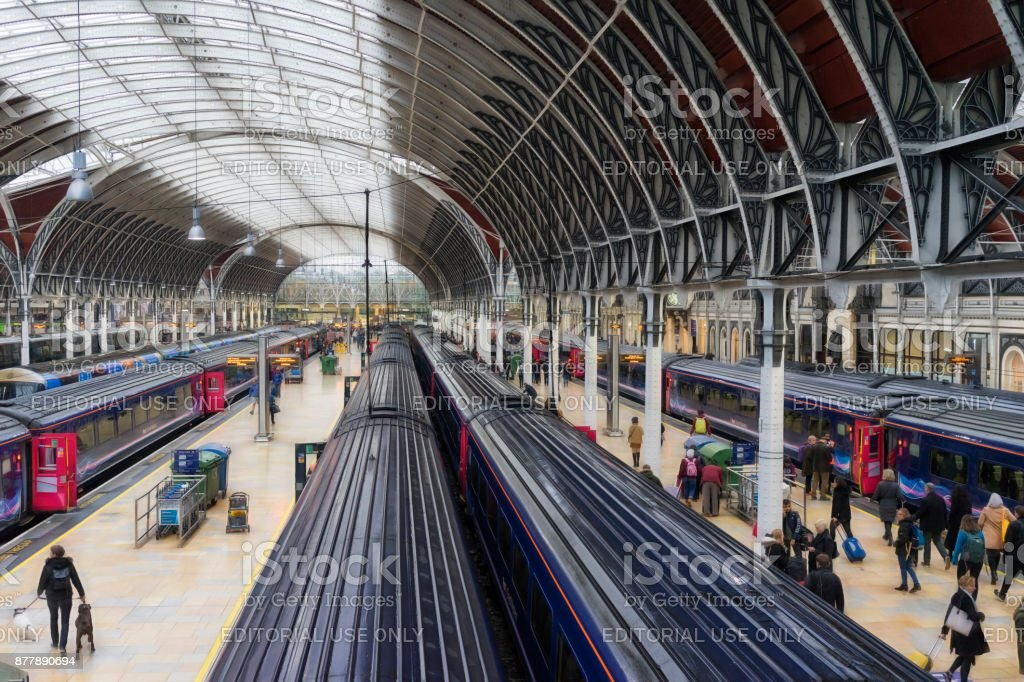 London Paddington Station stock photo